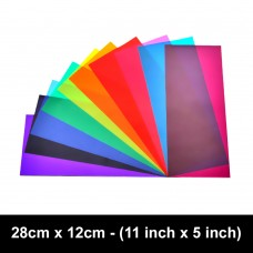 Acetate Solarised Water Filters - 10 Colours