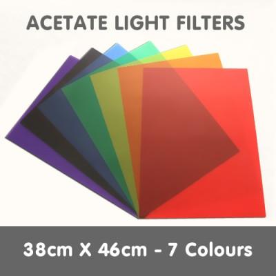 Acetate Light Filters 38cm x 46cm - 7 Colours